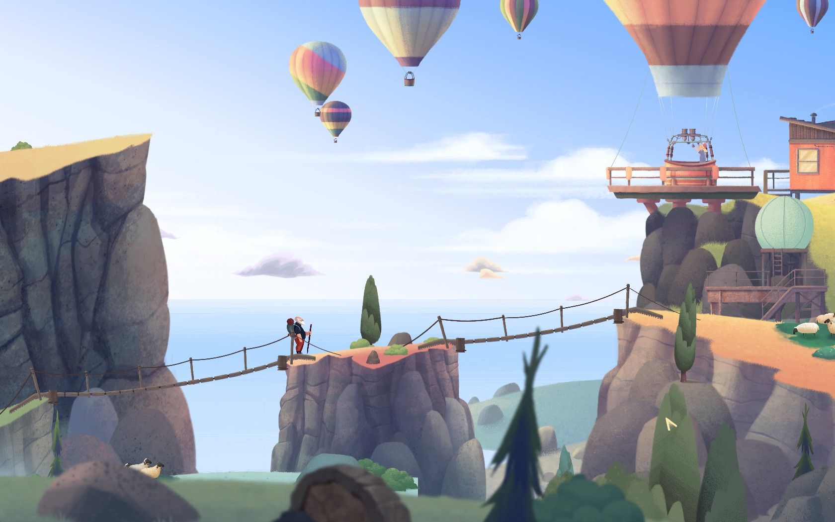 Скриншот к игре Old Man's Journey (2017) PC   RePack от R.G. Механики