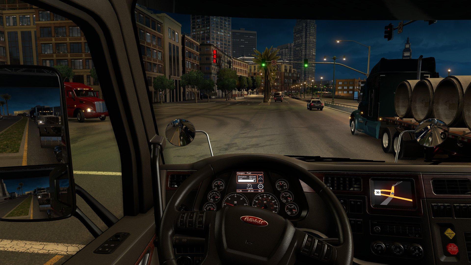 Скриншот к игре American Truck Simulator [v 1.38.2.18s + DLC] (2016) скачать торрент RePack