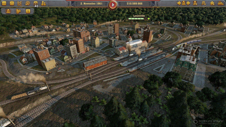 Скриншот к игре Railway Empire Complete Collection v.1.14.0.27219 [GOG] (2018) скачать торрент Лицензия