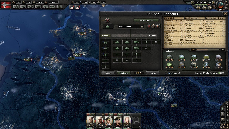 Скриншот к игре Hearts of Iron IV Field Marshal Edition v1.10.8  (2016) скачать торрент RePack