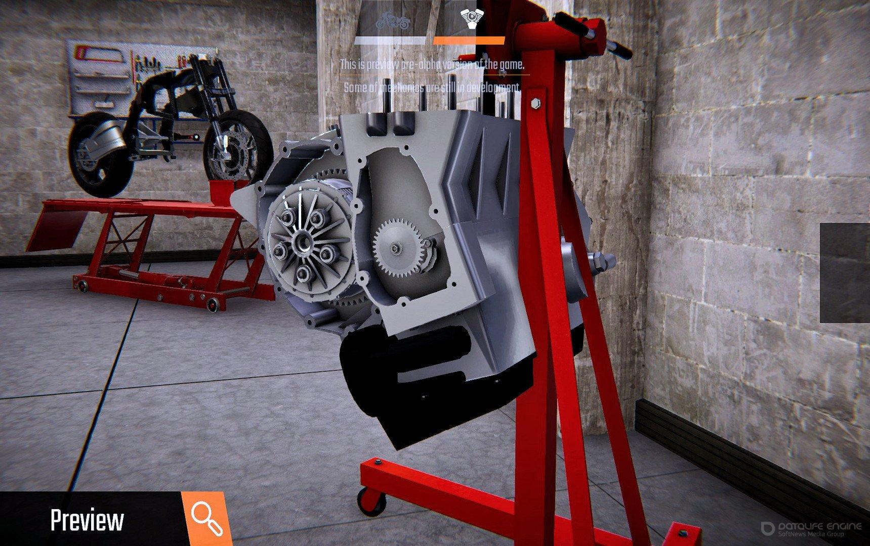 Скриншот к игре Biker Garage: Mechanic Simulator ( build 20200813+DLC) (2019) скачать торрент RePack