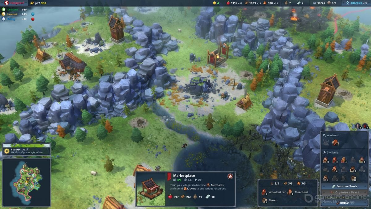 Скриншот к игре Northgard v.2.4.9.20502 [GOG] (2018) скачать торрент Лицензия