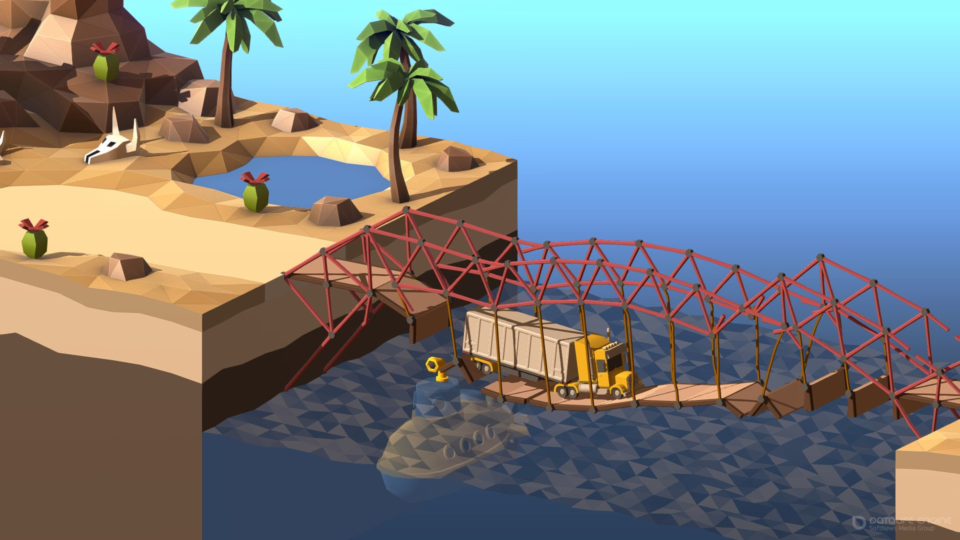 Скриншот к игре Poly Bridge 2 (2020) скачать торрент RePack