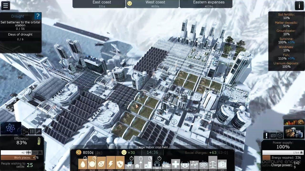 Скриншот к игре Cliff Empire v.1.10e [Portable] (2019) скачать торрент Лицензия