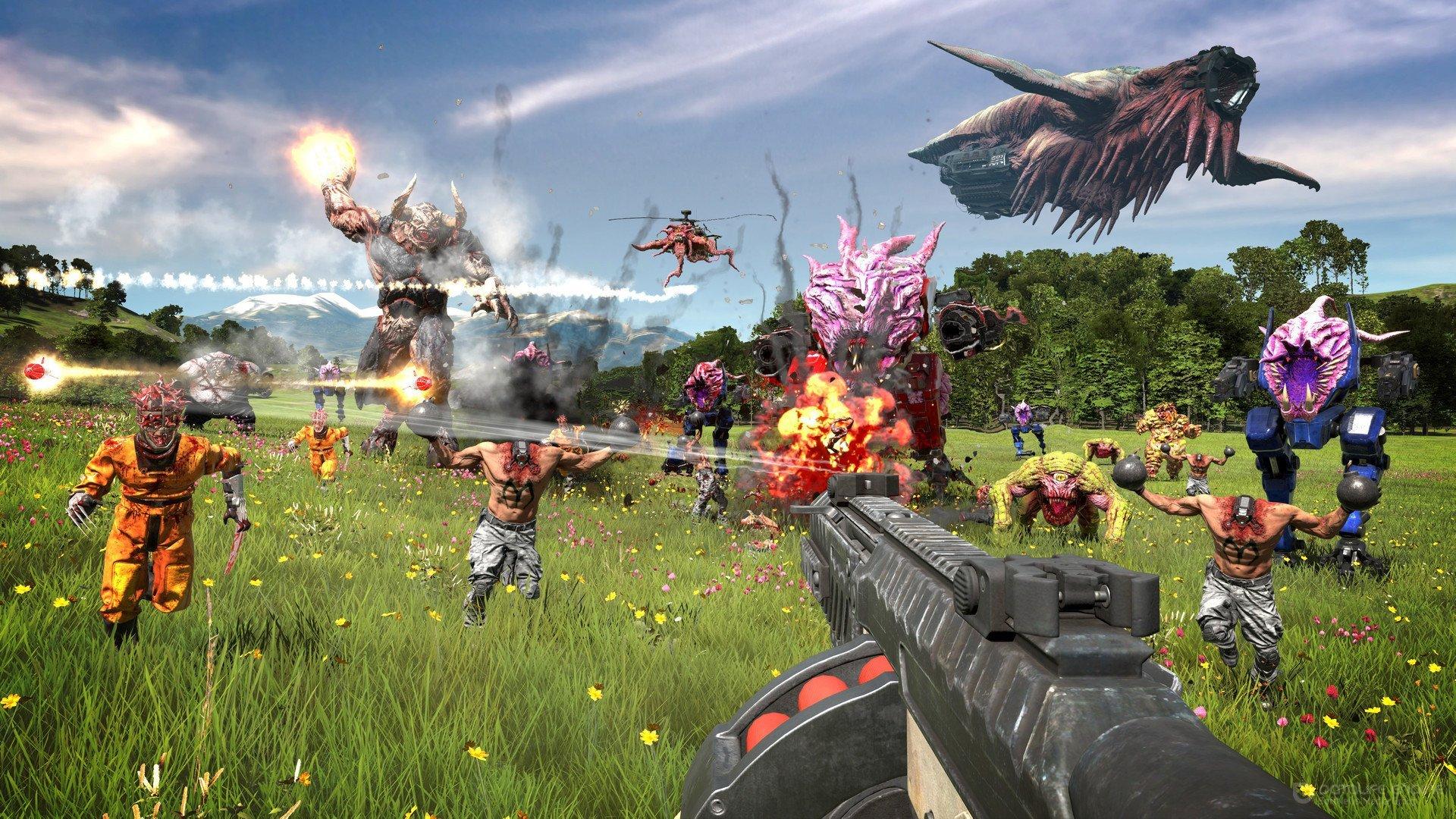 Скриншот к игре Serious Sam 4: Deluxe Edition [v 1.07 + DLC] (2020) скачать торрент RePack от R.G. Механики