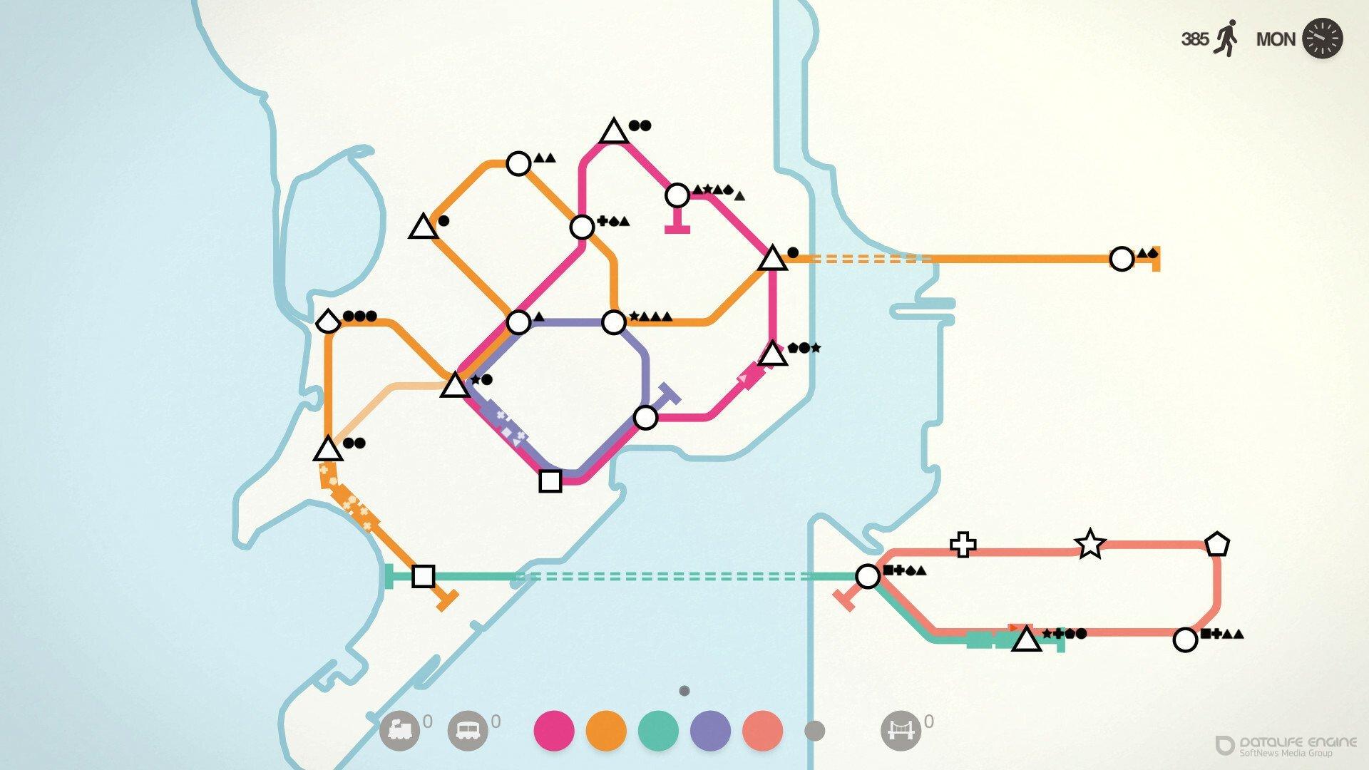 Скриншот к игре Mini Metro [GOG] (2015) скачать торрент Лицензия